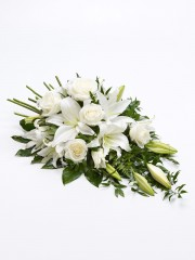 Rose and Lily Spray - White