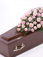 Rose and Carnation Casket Spray - Pink