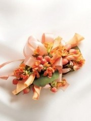 Sweet Peach Rose Corsage