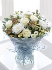 Winter Snowflake Hand-tied