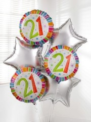 21st Birthday Balloon Bouquet